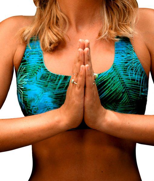 Deep Jungle Pura Vida Top for yoga and surf by Monique Rotteveel
