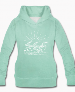 hoodie mint waves surfgirl monique rotteveel