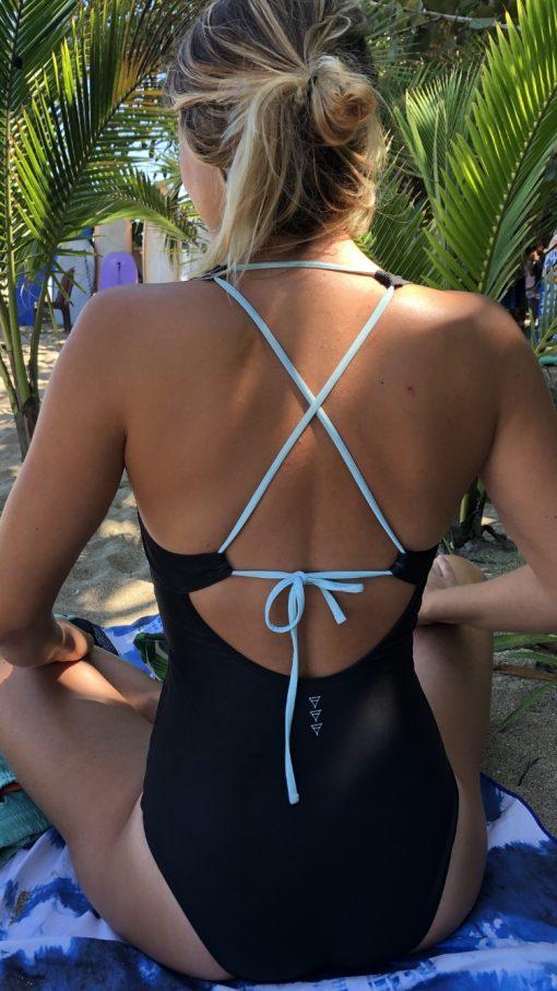 Onepiece Black Monique Rotteveel surfsuit swimsuit bathingsuit