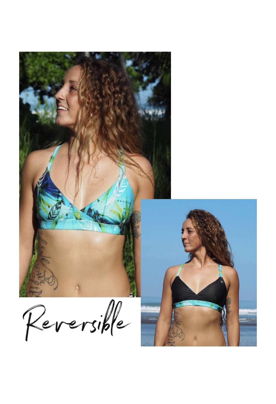 b3c83bb698 Triangle Top | Sustainable Surf Bikini by Monique Rotteveel | Night Sky