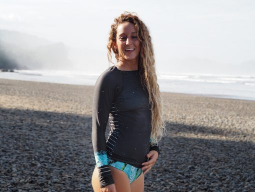 RASHGUARD MONIQUE ROTTEVEEL SUSTAINABLE SURFBIKINI BIKINI MADE IN EUROPE