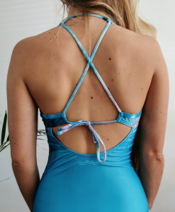 Zee van Gils x Monique Rotteveel | Resin Art Surfgirl Sustainable Bikini Onepiece