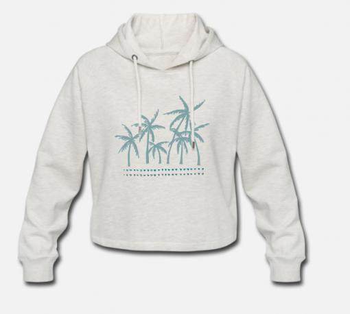 Cropped Hoodie Palmtrees